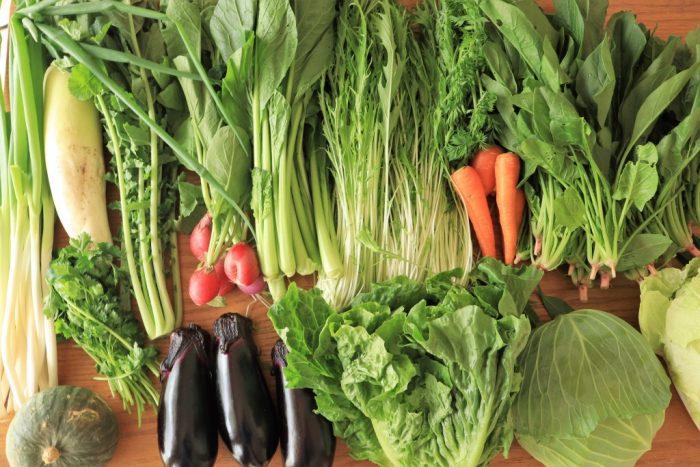 実家から届いた野菜