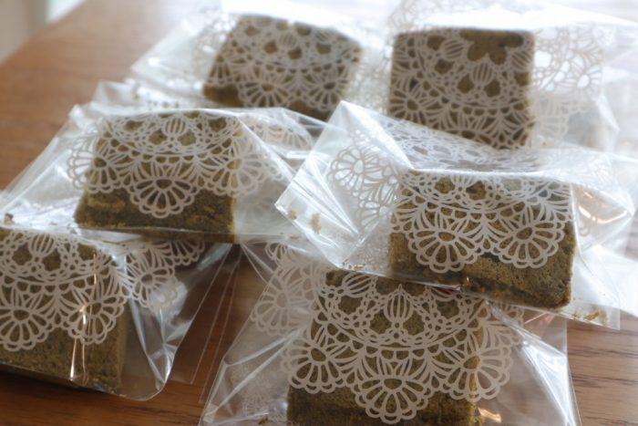米粉の抹茶シフォンケーキ