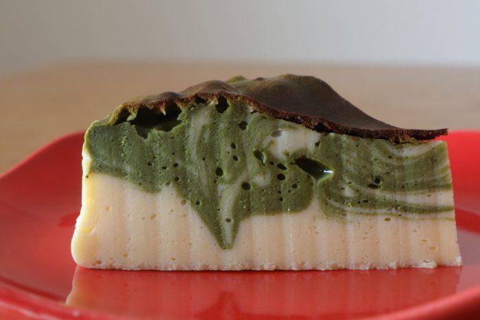 抹茶プロテインベイクドチーズケーキ